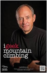 Mark deRoo geeks mountain climbing.