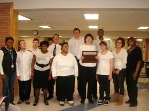 Young Adult Program Choir win an award.