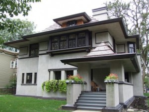 Frank Lloyd Wright designed this home in Oak Park, Ill.