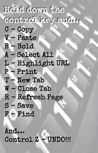 From Alice Keeler's Photo Credit: http://www.alicekeeler.com/teachertech/2013/09/05/keyboard-shortcuts/