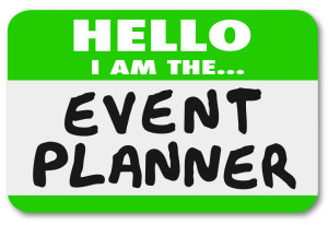 Hello I Am the Event Planner Nametag Sticker