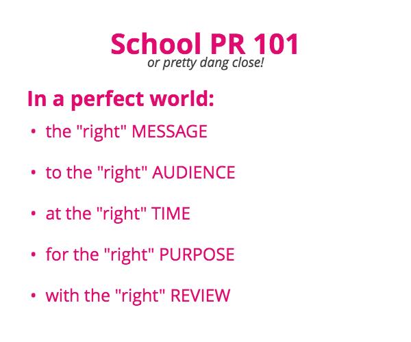 School PR 101 A